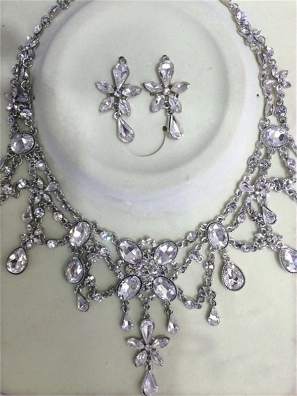 外贸新娘项链套装、紫萱蝶饰品款式丰富、新娘项链